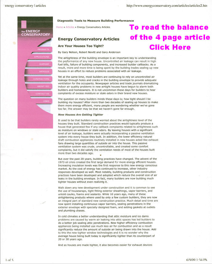 Energy Conservation Magazine Articles